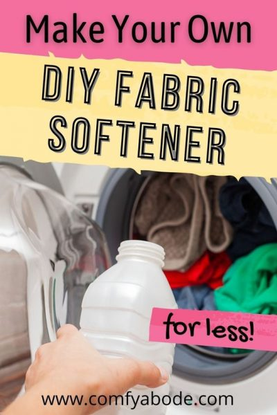 Natural DIY Homemade Fabric Softeners