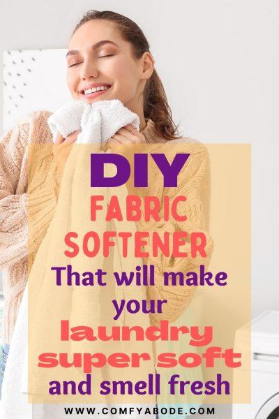 Natural DIY Homemade Fabric Softener