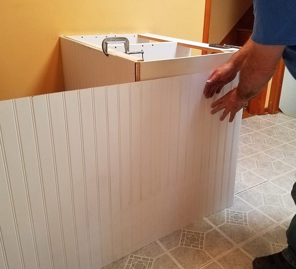 Wrapping the Laminate Kitchen Island