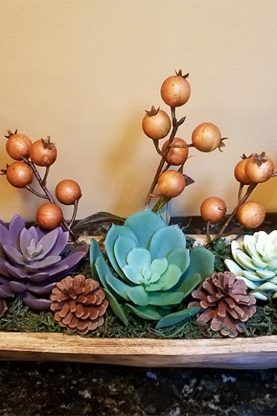 Making Dough Bowls With Succulents