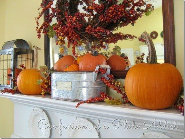 DIY Fall Mantel Ideas with Pumpkins